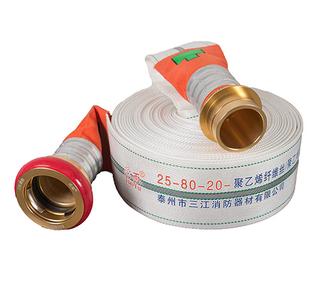 25-80-20超輕浮力消防水帶聚氨酯聚乙烯纖維絲