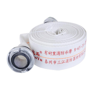 8-65-20有衬里消防水带聚氨酯涤纶长丝耐磨款